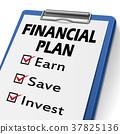 financial plan clipboard 37825136