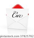 the word car on a card 37825762