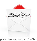 the words thank you on a card 37825768