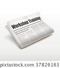 workshop training words on newspaper 37826163