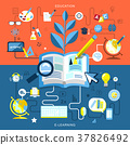 flat design of education and e-learning 37826492