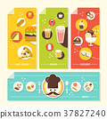 flat design concept illustration for food and drink 37827240
