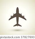 retro style plane icon 37827693