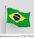 3d vector Brazil flag 37827930