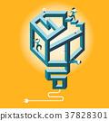 flat design illustration concept of confused 37828301