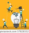 flat design illustration concept of team work 37828332