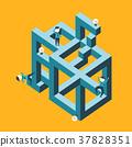 flat design illustration concept of confused 37828351