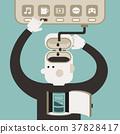 flat design illustration concept of break time 37828417