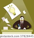 flat design illustration concept of creative inspiration 37828445