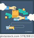 flat design illustration concept of e-commerce 37828813