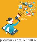 flat design digital marketing concept 37828837