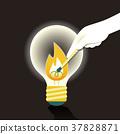 flat design illustration concept of creative inspiration 37828871