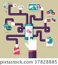 flat design illustration concept for mobile apps 37828885