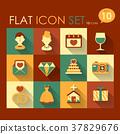 wedding icon set 37829676