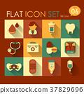 medical icon set 37829696