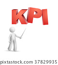 "3d person pointing at a word ""KPI""( Key Performance Indicator ) 37829935"