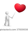 3d person pointing at a red heart symbol 37830038