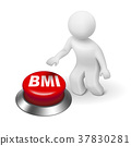 3d man with BMI ( Body Mass Index) button 37830281