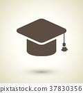 Graduation cap icon 37830356