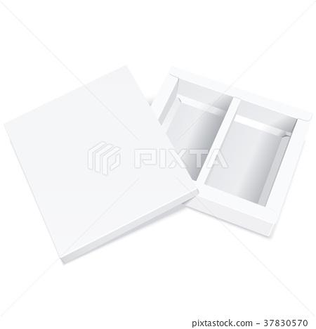 open empty blank box 37830570