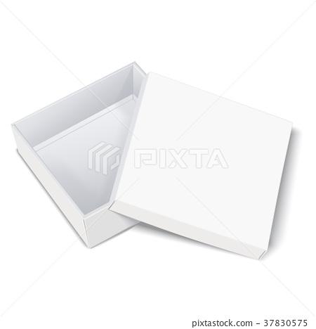 open empty blank box 37830575