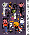 Halloween character collection 37830680