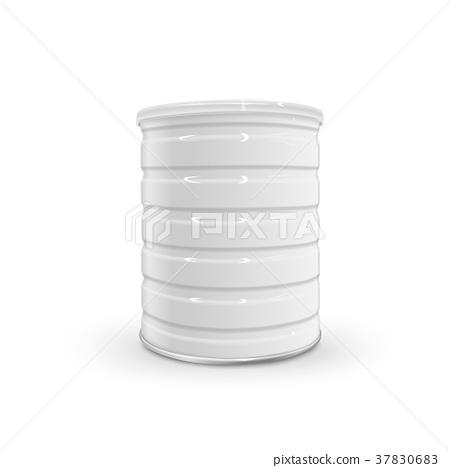 blank metal can 37830683