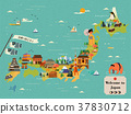 attractive Japan travel map 37830712