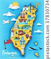 แผนที่,ไต้หวัน,การท่องเที่ยว 37830734