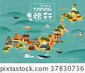 Japan travel map 37830736