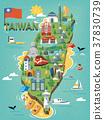 Taiwan travel map 37830739