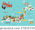 Japan travel map 37830749