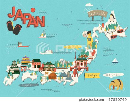 Japan travel map 37830749