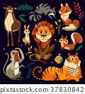 cartoon animals set 37830842