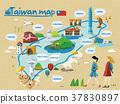 Taiwan travel map 37830897