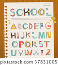 school stationery font 37831005