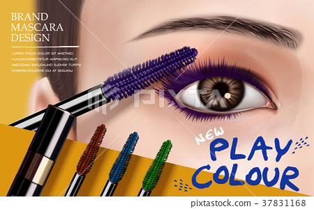 mascara design ad 37831168