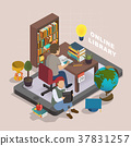 Online library concept 37831257