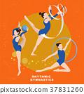 Rhythmic gymnastics concept 37831260