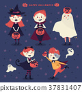 Happy Halloween characters 37831407