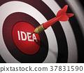 IDEA target hitting by dart arrow 37831590