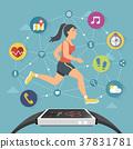 smart watch flat design 37831781
