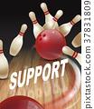 strike bowling 3D illustration 37831809