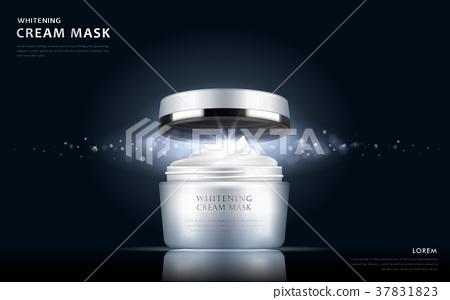 whitening cream mask container 37831823