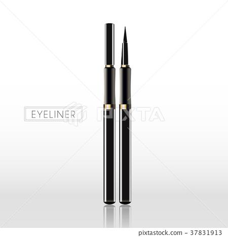 Black eyeliner template 37831913