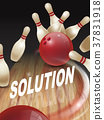strike bowling 3D illustration 37831918