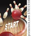 strike bowling 3D illustration 37831938