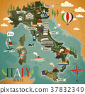 Italy travel map 37832349