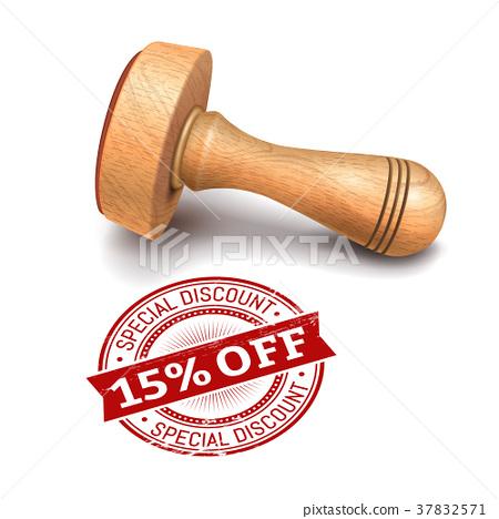 15 percent off round stamp 37832571