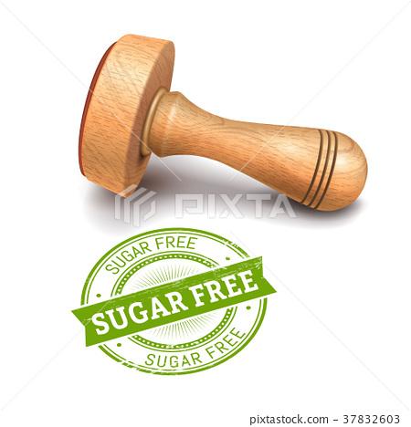 sugar free round stamp 37832603